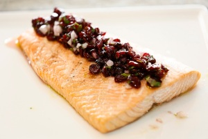 Shereen Shabnam Salmon with Craisin Salsa