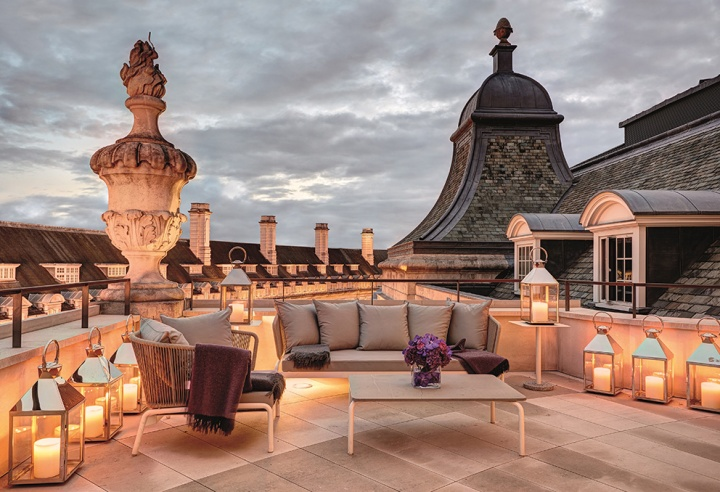 Hotel Cafe Royal - Dome Penthouse - Terrace at Dusk